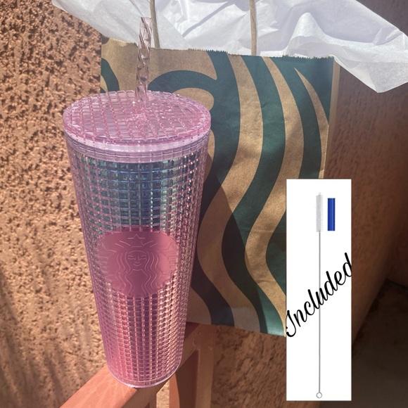 Starbucks Summer 2021 Pink & Blue Grid Tumbler 💕